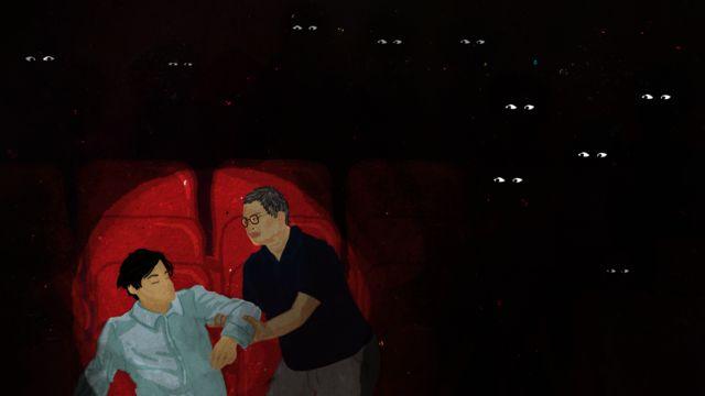다나이는 영화관에서 아버지와 국왕 문제를 두고 크게 싸웠다
