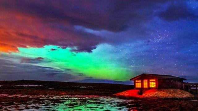 Ночное небо над Исландией