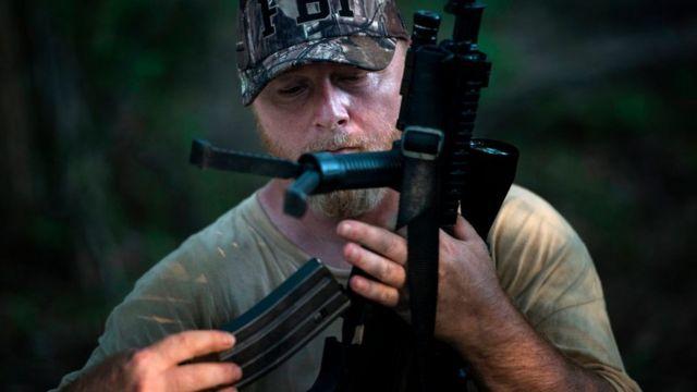 Chris Hill, fundador de la Fuerza de Seguridad de Georgia de los Three Percent (Los tres porciento)