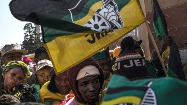 militants de l'ANC à Johannesburg en juillet 2016