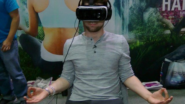 Meditating in virtual reality