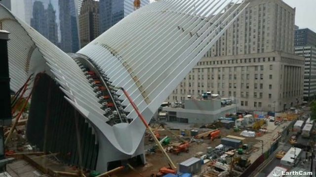 The Oculus at the World Trade Center Transportation Hub.