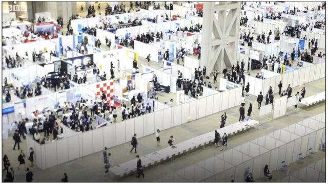 일본 취업 박람회 현장