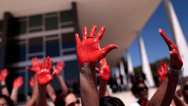 Manifestação contra estupro em Brasília