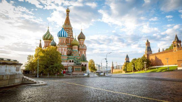 Plaza Roja en Moscú.