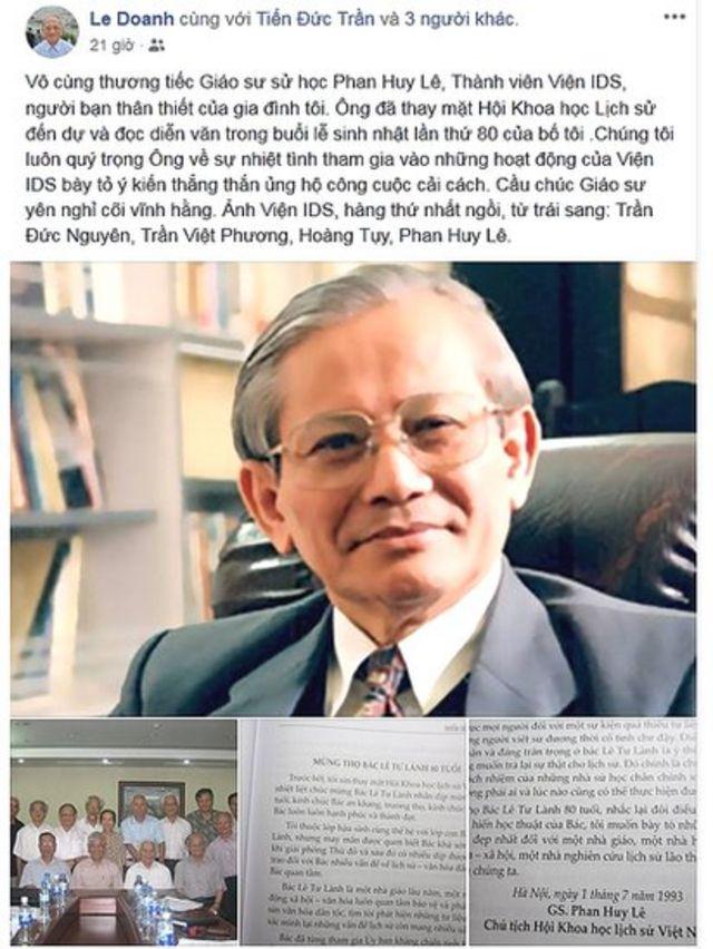 Chia sẻ của Tiến sỹ Lê Đăng Doanh