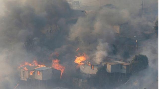 بيوت مشتعلة