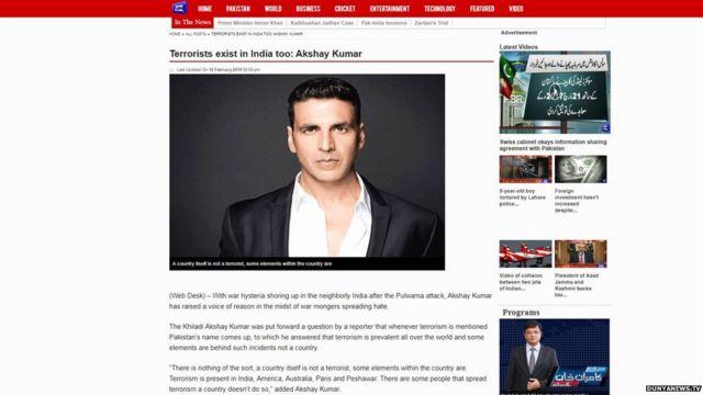 पुलवामा हमले के बाद अक्षय कुमार ने पाकिस्तान का समर्थन किया?