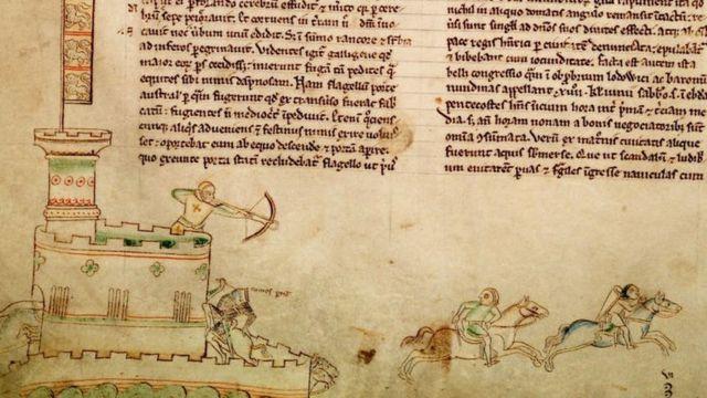 Средневековая иллюстрация к битве при Линкольне.