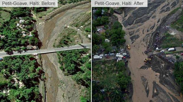 Haïti, avant et après la tempête