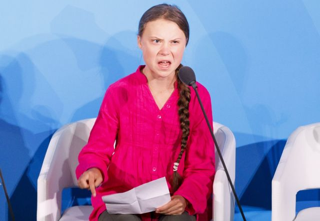 Greta Thunberg, the 16-years-old climate activist from Sweden, addresses world leaders at the start of the 2019 Climate Action Summit