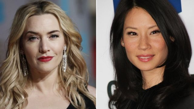 Composite picture showing British actress Kate Winslet and American actress Lucy Liu