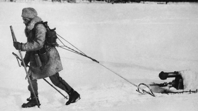 Финский пулеметчик во время Зимней войны с СССР (1939-1940 гг.)
