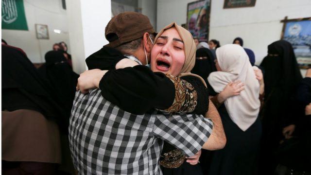 Funeral por una víctima palestina