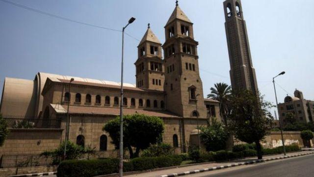 Igisasu caturikiye impande ya katedrale St Mark y'Abakristu b'Abakope