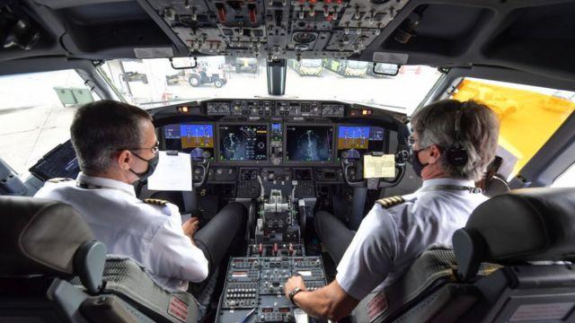 Кабина Boeing 737 Max