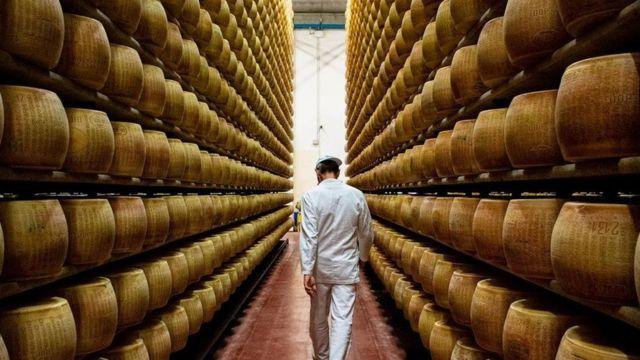 Parmigiano Reggiano é envelhecido