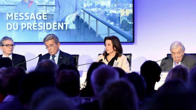 Члены правления французской компании Sodexo, работающей в сфере общественного питания. К концу года английский в Sodexo станет официальным языком