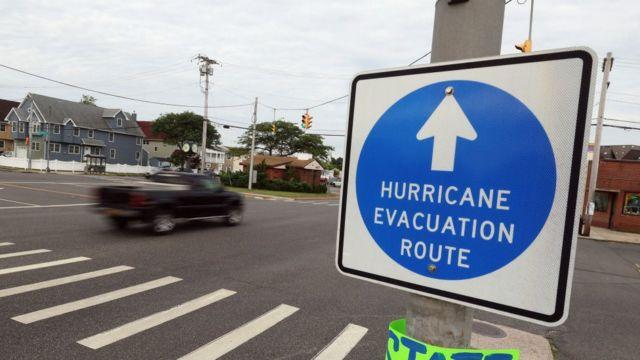 Evacuation warning signs August 21.