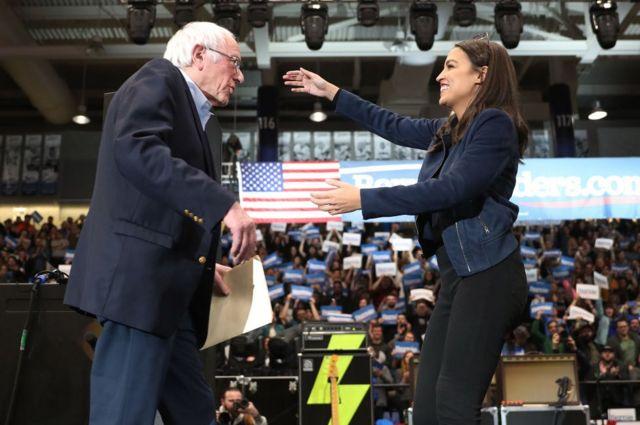 Sanders'ın temsil ettiği politika anlayışının yeni liderinin Alexandria Ocasio-Cortez olabileceği ifade ediliyor.