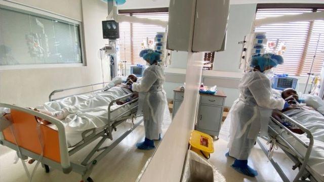 Hospital na África do Sul, em foto de dezembro