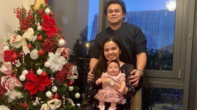 Eva Gicain comemorou um Natal atrasado com sua filha Elleana e seu marido Limuel Lina depois de receber alta do hospital