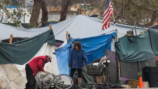 Família pobre nos EUA