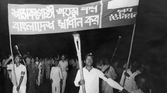 Pakistani Students during a Ralley in Dacca, Bangladesh. March 1971.