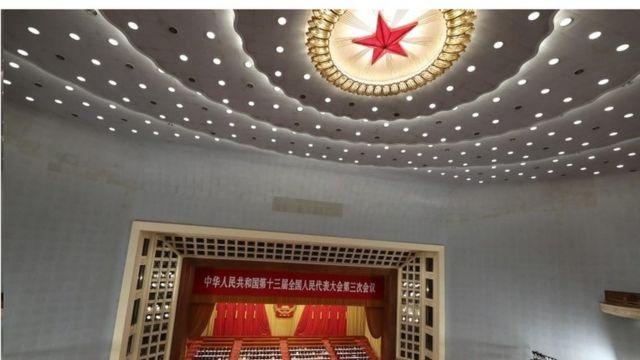 2020年5月22日,中国领导人和代表在中国人民大会堂出席中国全国人民代表大会开幕式