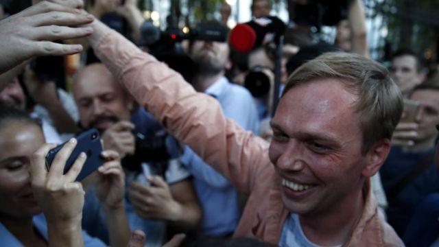 Иван Голунов после снятия с него обвинений