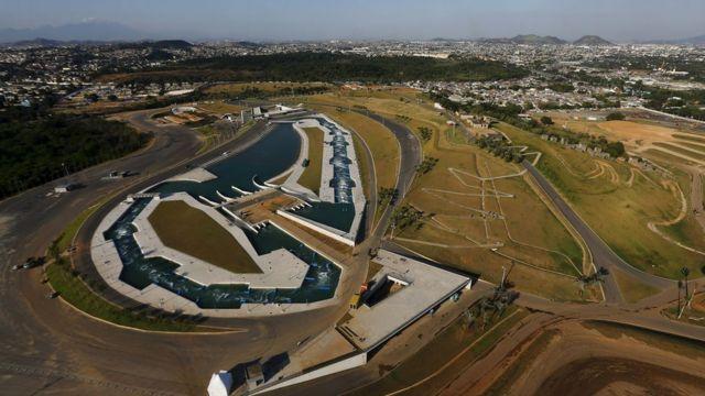 Vista aérea do Complexo de Deodoro, no Rio de Janeiro, dia 23 de abril de 2016