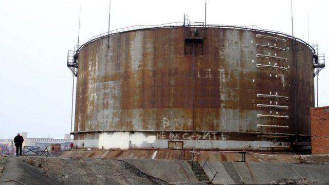 Parte de la central eléctrica en Norilsk, 2 de junio de 20