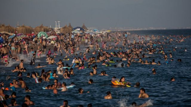 Antaliyada turistlər
