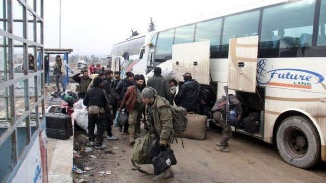 Bas ta karshe da ta kwashe mutane daga birinin Aleppo, da ke Syria