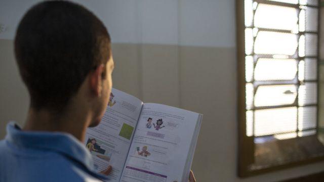 Um dos internos da Casa Rio Tâmisa que se classificou para a segunda fase da Olimpíada de Matemática