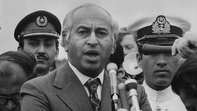 ভুট্টো ছিলেন পাকিস্তানের সামরিক বাহিনীর আস্থাবান নেতা।