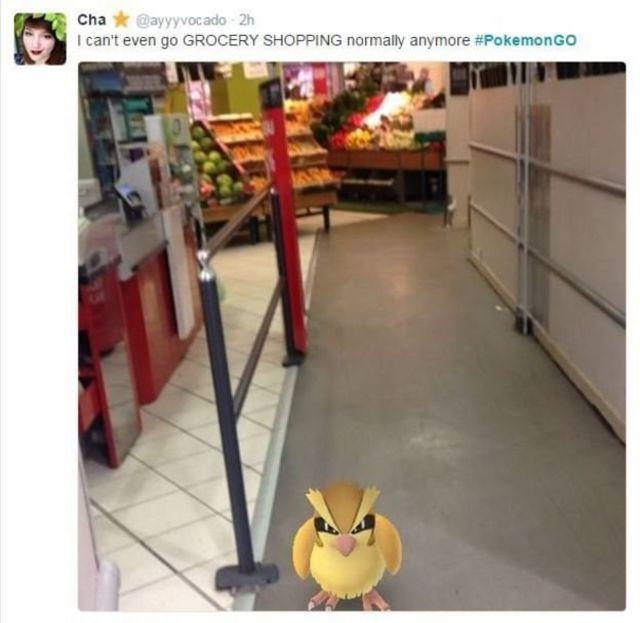 pokémon em supermercado