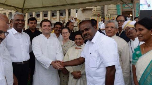 कर्नाटक, भाजप, काँग्रेस, महाआघाडी, सीपीएम, जेडीएस