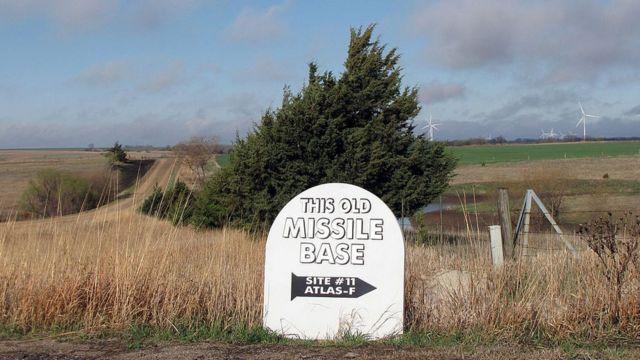 Antiguo depósito de misiles nucleares en Kansas.