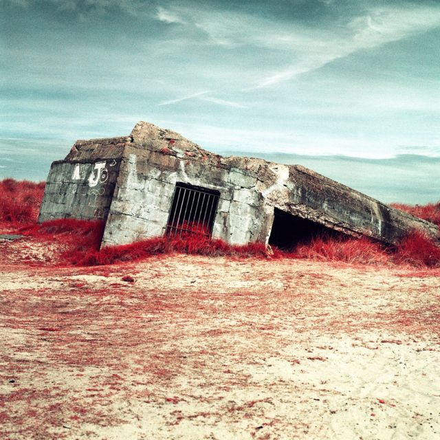 D-Day: Infrared photos reveal WW2 bunkers in new light