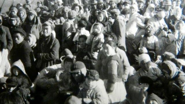 Refugiados a bordo del Meredith Victory