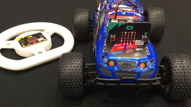 Micro Bit y auto eléctrico