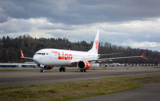 Boeing 737 Max 8 yang lebih dahulu digunakan oleh Lion Air di Thailand.