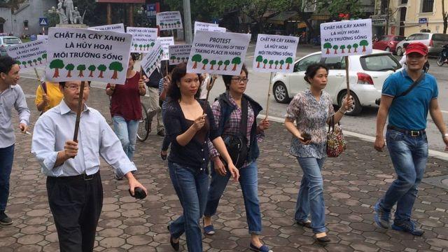 Có ý kiến cho rằng phong trào ủng hộ cây ở Hà Nội năm 2015 mở đầu cho các phong trào xã hội trên mạng