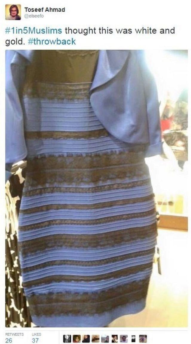 「ムスリムの5人に1人がこのドレスは白と金だと思った」と