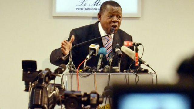 Lambert Mende, ministre de la communication de la RDC
