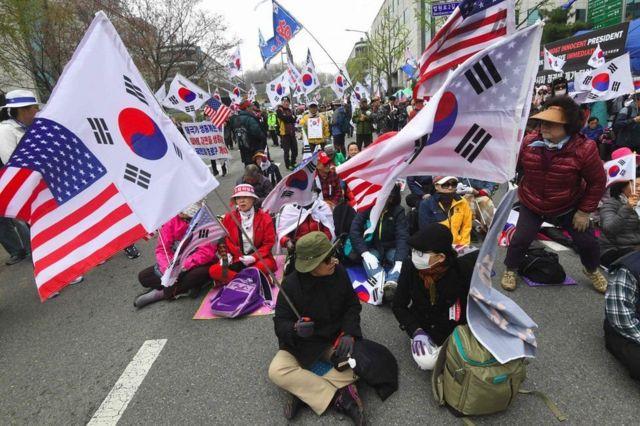 مظاهرات كوريا الجنوبية