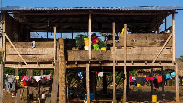 Familia pobre en Panamá.
