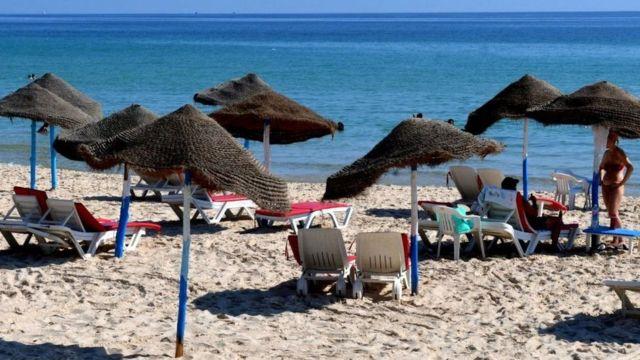 شاطئ في تونس