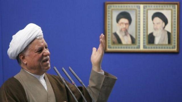 الرئيس الإيراني السابق على أكبر هاشمي رفسنجاني قبل وفاته